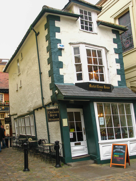 The Crooked House of Windsor, where we had lunch