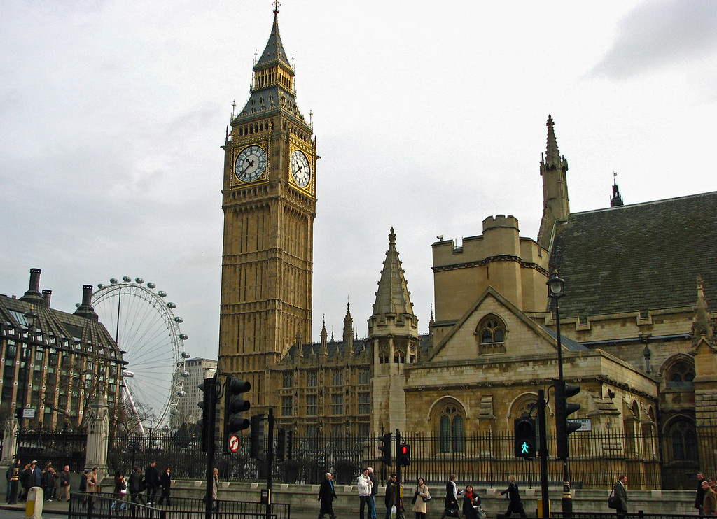 The Parliament Buildings, Big Ben, and the London Eye