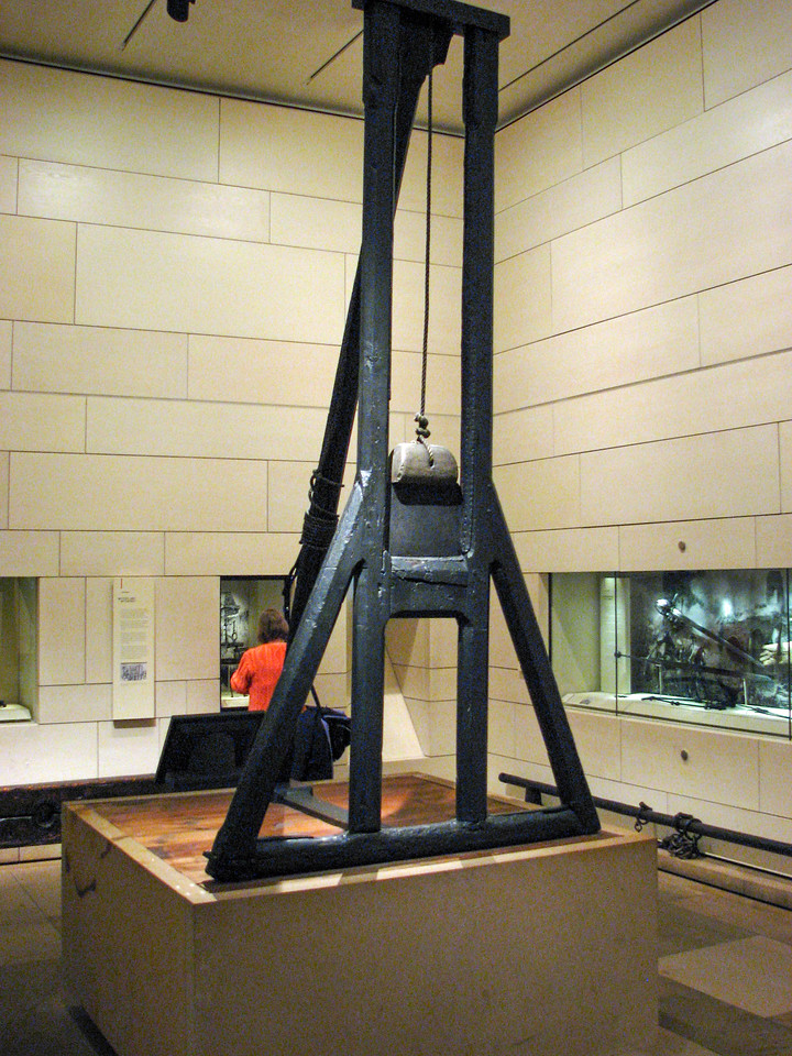 """The Maiden"" -- a Scottish guillotine, used from 1564 to 1710"