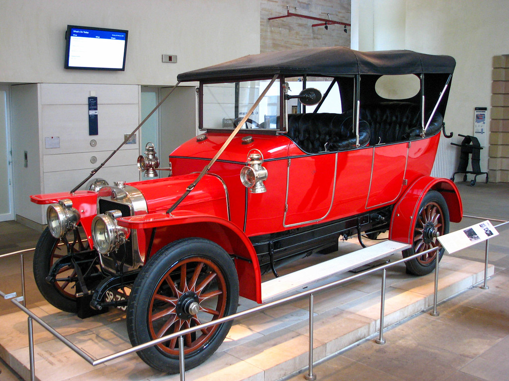 Old car in the Museum of Scotland