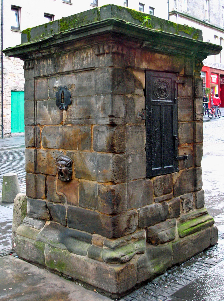Old cistern on the Royal Mile