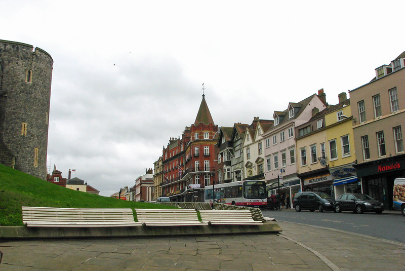 Downtown Windsor and the Castle walls