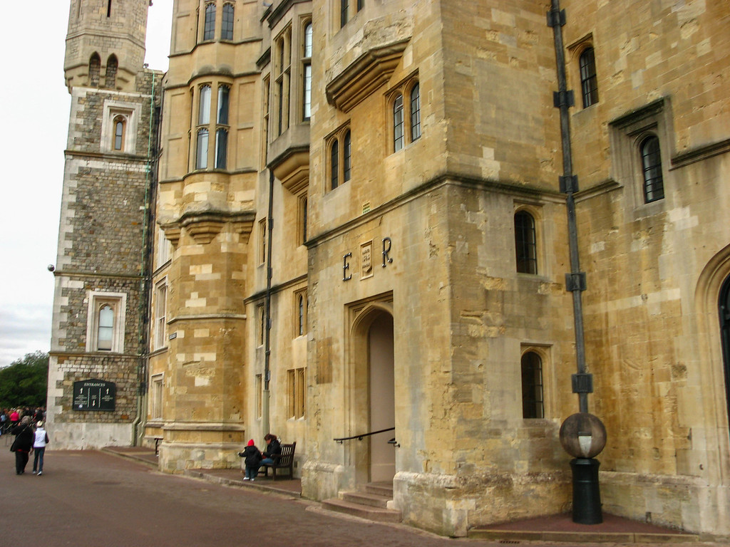 Windsor Castle, ouside the State Apartments