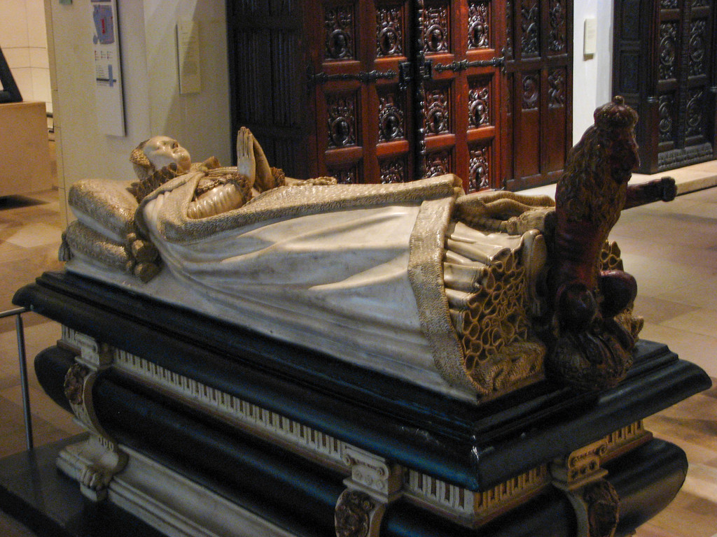 Cast of the tomb of Mary Queen of Scots in the Museum of Scotland -- the original is in Westminster Abbey (along with what's left of Mary)
