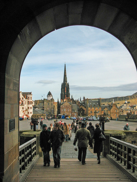 Walking out of Edinburgh Castle