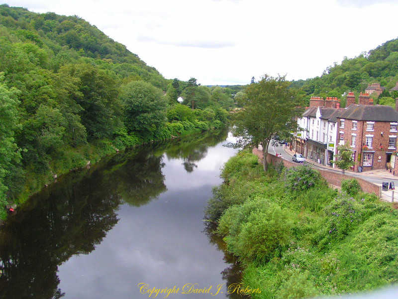 View from Iron Bridge, England