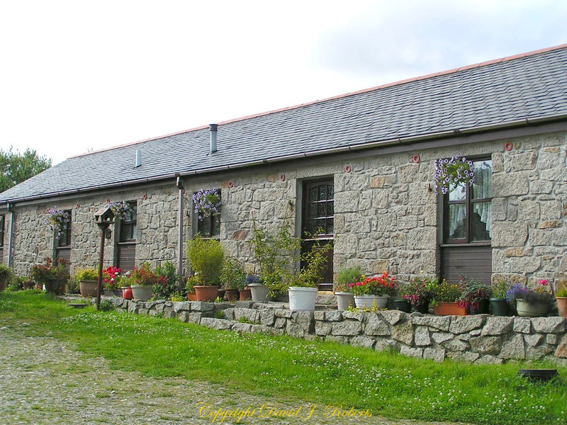 The Piggery at Polgarth Farm has been converted to beautiful little apartments, Cornwall, England