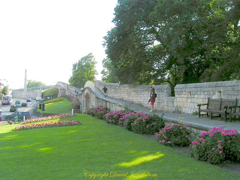 The wall around the center of York is a great place to walk.