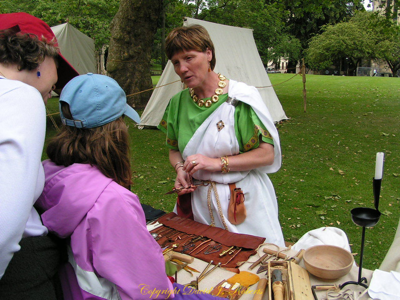 Early English residents in re-enactment, Viking Days, York, England