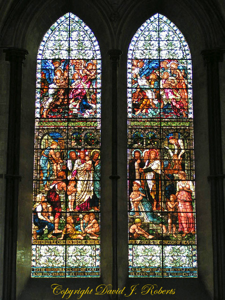 Stained glass windows, Salisbury Cathedral