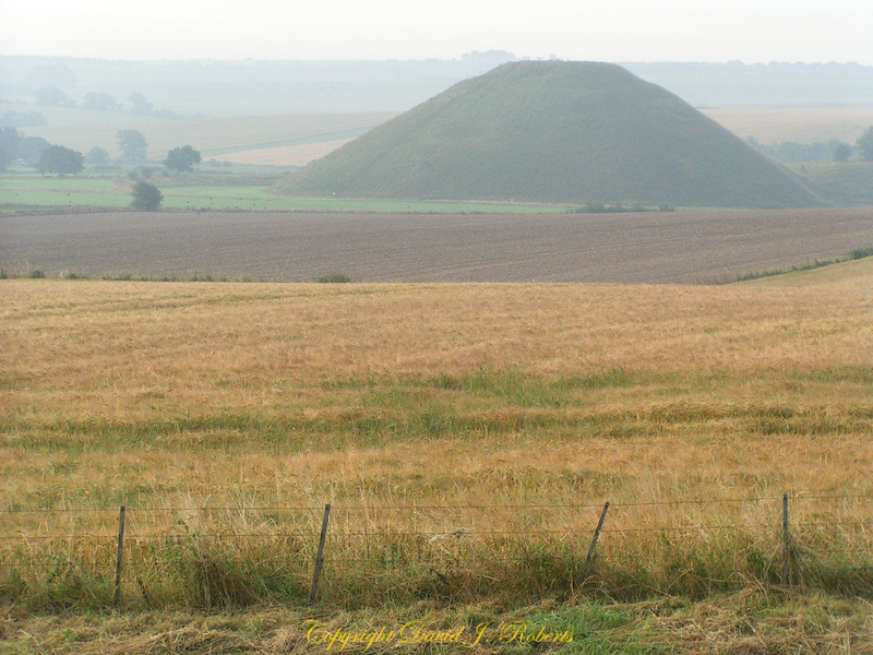 Burial mound near Avebury England