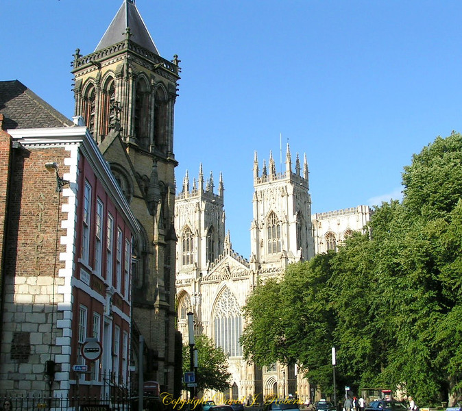 York Cathedral from a side street, York, England
