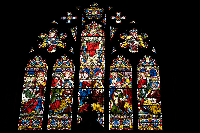 Stained Glass in House of Kent Cathedral, Oxford University, England