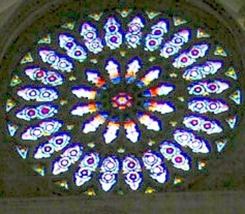 Stained Glass Rosette in York Cathedral