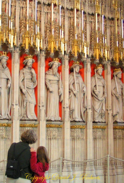 Statues at York Cathedral, England