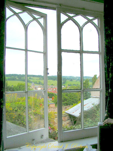 View of the countryside from the window of our B&B in Wales.