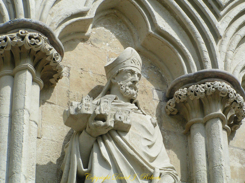 Statues at Salisbury Cathedral, England