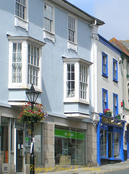 Beautiful buildings in Helston, Cornwall, England