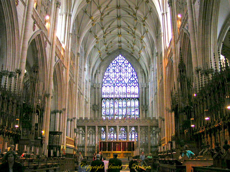 York Cathedral interior arches, England