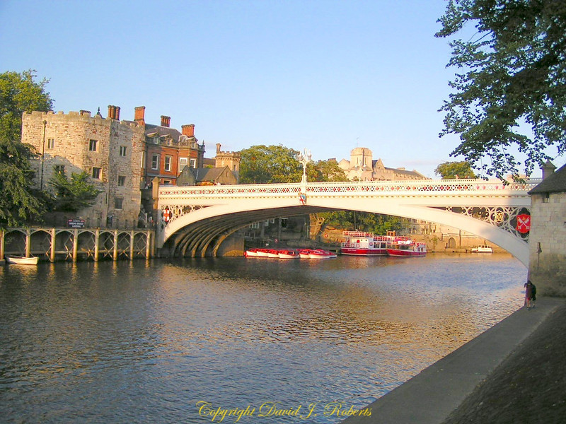 Bridge over the River Ouse, York, England