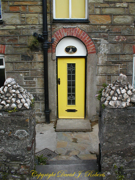 A door on a home in Cornwall, England.