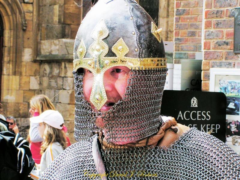 Viking Solider in Battle re-enactment, Viking Days, York, England
