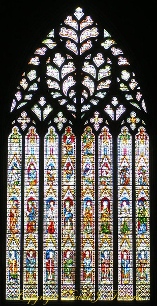 Stained glass windows of York Minster, England