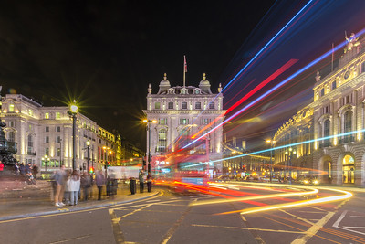 Night traffic on Piccadilly Circus