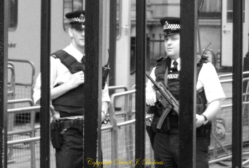 Guards at #10 Downing St, London