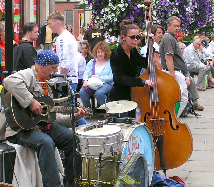 Music on the street in York