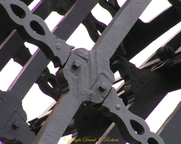Joinery at Iron Bridge, River Severn, Shropshire, England