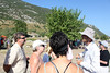 Our guide ( in the broad-brimmed hat) explains some of the history of Ephesus as we start the tour.