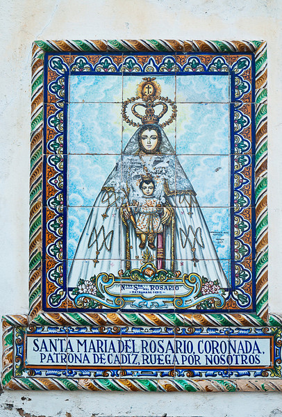 Although more commonly associated with Italy -- notably Venice and Rome -- Santa Maria del Rosario has found special devotion in Andalusia and is - as noted here -- the patroness of Cadiz.