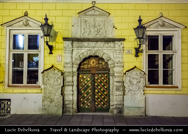 Europe - Estonia - Tallinn - Capital City on Shores of Baltic Sea & Gulf of Finland - UNESCO World Heritage Site - Historic Centre - Old Town - Dusk - Twilight - Blue Hour
