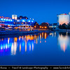 Europe - Estonia - Tartu - University town on Emajõgi river - Intellectual & cultural hub of the country - Dusk - Twilight - Blue Hour - Night
