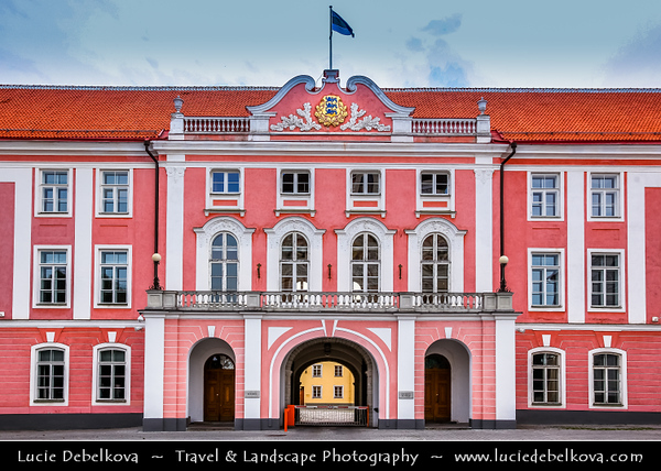 Europe - Estonia - Tallinn - Capital City on Shores of Baltic Sea & Gulf of Finland - UNESCO World Heritage Site - Historic Centre - Old Town - Toompea - Estonian Parliament - Toompea Palace, built in 1767-1773 in place of the castle's east wing