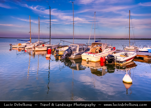 Europe - Estonia - Lääne County - Haapsalu - Haapasalo - Venice of the North - Seaside resort town on shores of Baltic Sea - Marina with smaller and bigger boats and yachts