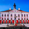Europe - Estonia - Tartu - University town on Emajõgi river - Intellectual & cultural hub of the country - Town Hall Square - The trapeze-shaped central square that is surrounded by classicist buildings - Sunny Day