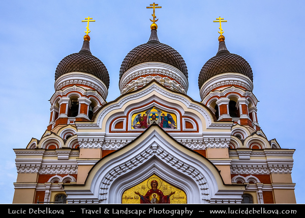 Europe - Estonia - Tallinn - Capital City on Shores of Baltic Sea & Gulf of Finland - UNESCO World Heritage Site - Historic Centre - Old Town - Toompea - Alexander Nevsky Orthodox Cathedral - Tallinn's largest & grandest orthodox cupola cathedral