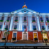 Europe - Estonia - Tartu - University town on Emajõgi river - Intellectual & cultural hub of the country - Town Hall Square - The trapeze-shaped central square that is surrounded by classicist buildings - Dusk - Blue Hour - Twilight - Night
