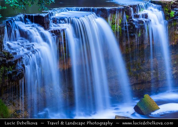 Europe - Estonia - Keila Joa Waterfall - Keila juga - 6 metres high & tens of metres wide on Keila River- 3rd most powerful waterfall in Estonia