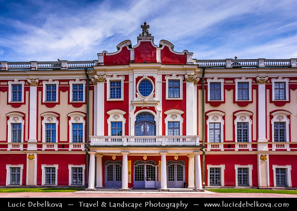 Europe - Estonia - Tallinn - Capital City on Shores of Baltic Sea & Gulf of Finland - UNESCO World Heritage Site - Historic Centre - One of best-preserved medieval old towns in Northern Europe - Kadriorg Palace - Catherinethal - Catherine's valley - Petrine Baroque palace of Catherine I of Russia