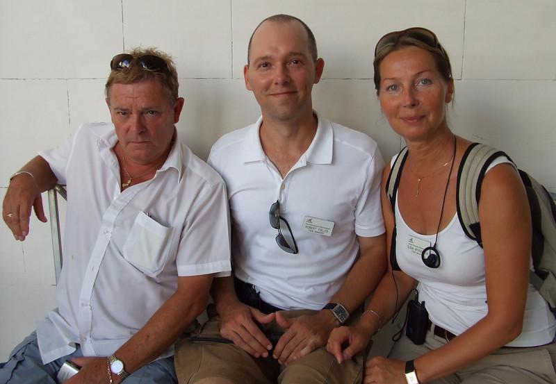 Cruise director Peter, assistants Robert & Eleyna