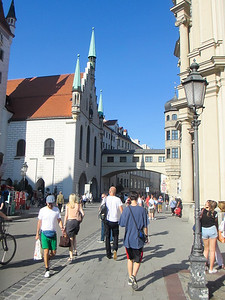 walking through the Altstadt (old city) in Munich.