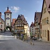 Rothenburg ob der Tauber, Sieberstor(links) und Koboltor (rechts)