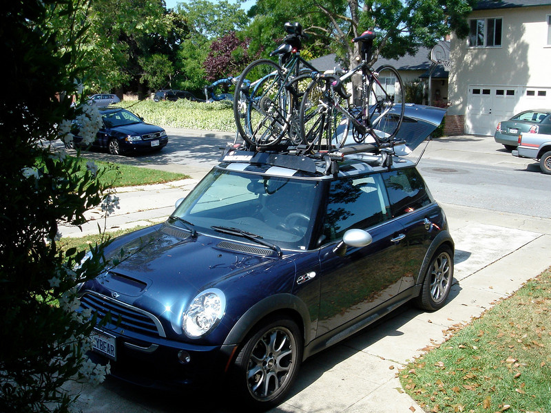 Loaded up for an assault on Mount Diablo, training for the Italy rides