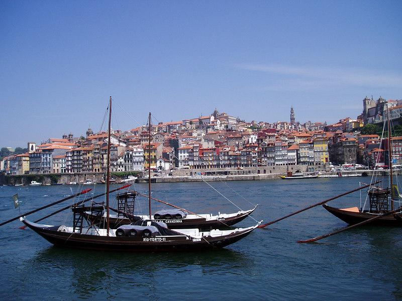 Barcos rabelos on Douro river, Porto