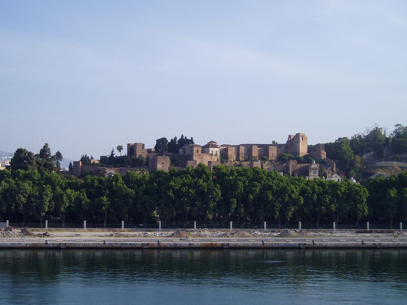 Alcazaba, Malaga, from the ship