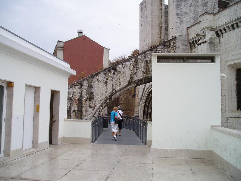 Off the elevator, monastery ruins, Lisbon