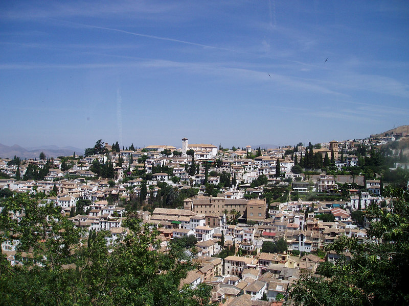 Lookng out, from inside the Alhambra